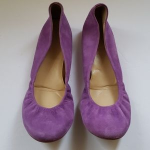 J.Crew cinched flats in a lavender color size 8
